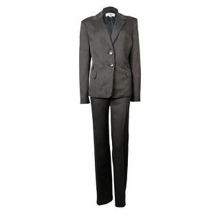 Le Suit Women's Woven Four Pocket Tuscany Pant Suit