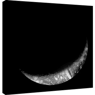 "PTM Images 9-101225  PTM Canvas Collection 12"" x 12"" - ""Abstract Moon Phase 4"" Giclee Maps Art Print on Canvas"