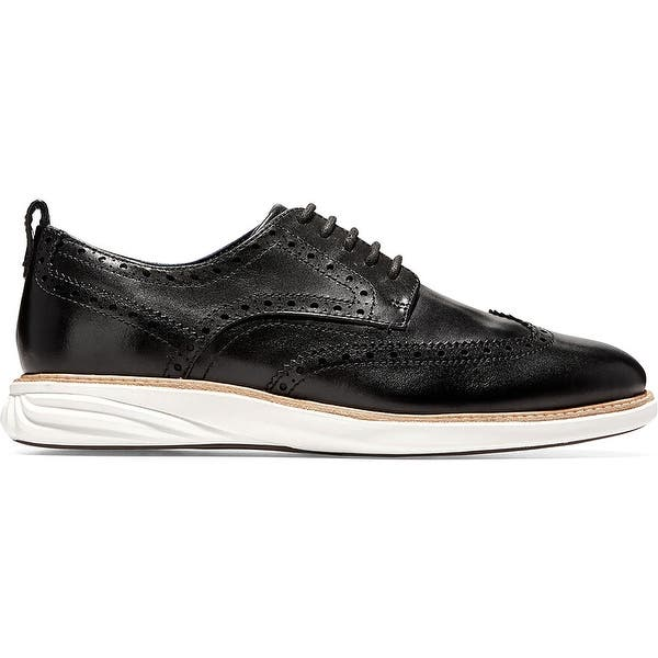 BHFO 0427 Cole Haan Mens Grand Evolution Black Oxfords Shoes 12 Medium D