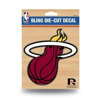 Rico Industries 9474682131 Miami Heat Bling Die-Cut Decal