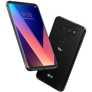LG V30+ LS998 128GB Unlocked GSM 4G LTE Android Phone w/ Dual 16MP 13MP Rear Camera - Aurora Black (Certified Refurbished)