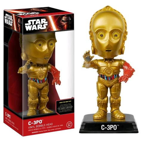 "Star Wars The Force Awakens Wacky Wobbler 7"" Bobble Head: C-3PO - Multi"