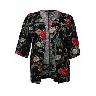 Style & Co Women's Flowery Print Open Front Cardigan