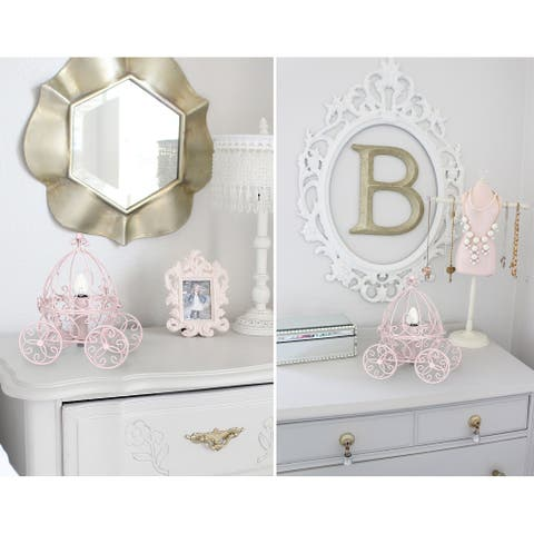 Silver Orchid Baker Pink Carriage Accent Table Lamp