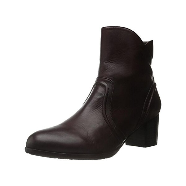 Everybody Womens Raine Ankle Boots Leather Stacked Heel