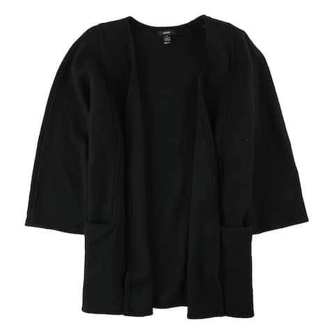 Alfani Womens Wool Overcoat Dress, Black, Medium