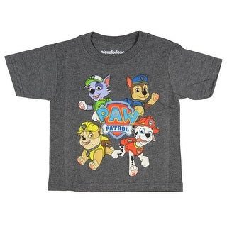 Nickelodeon Paw Patrol Shirt Chase Marshall Rocky Rubble Cartoon Toddler Tee