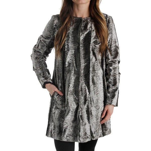 5d49972b53b9 Shop T Tahari Womens Jenna Coat Faux Fur Metallic - Free Shipping ...