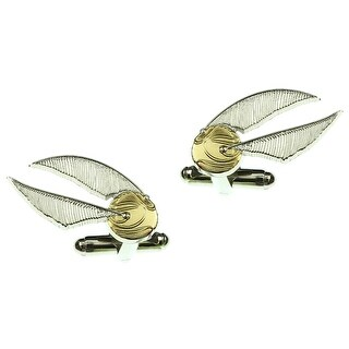Harry Potter Golden Snitch Silver Plated Cufflinks