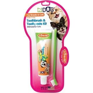EZ Dog Triple Pet Toothbrush and Toothpaste Kit