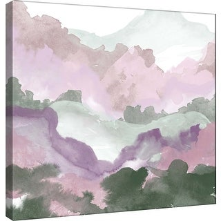 "PTM Images 9-101162  PTM Canvas Collection 12"" x 12"" - ""Layers of Spring A"" Giclee Forests and Mountains Art Print on Canvas"