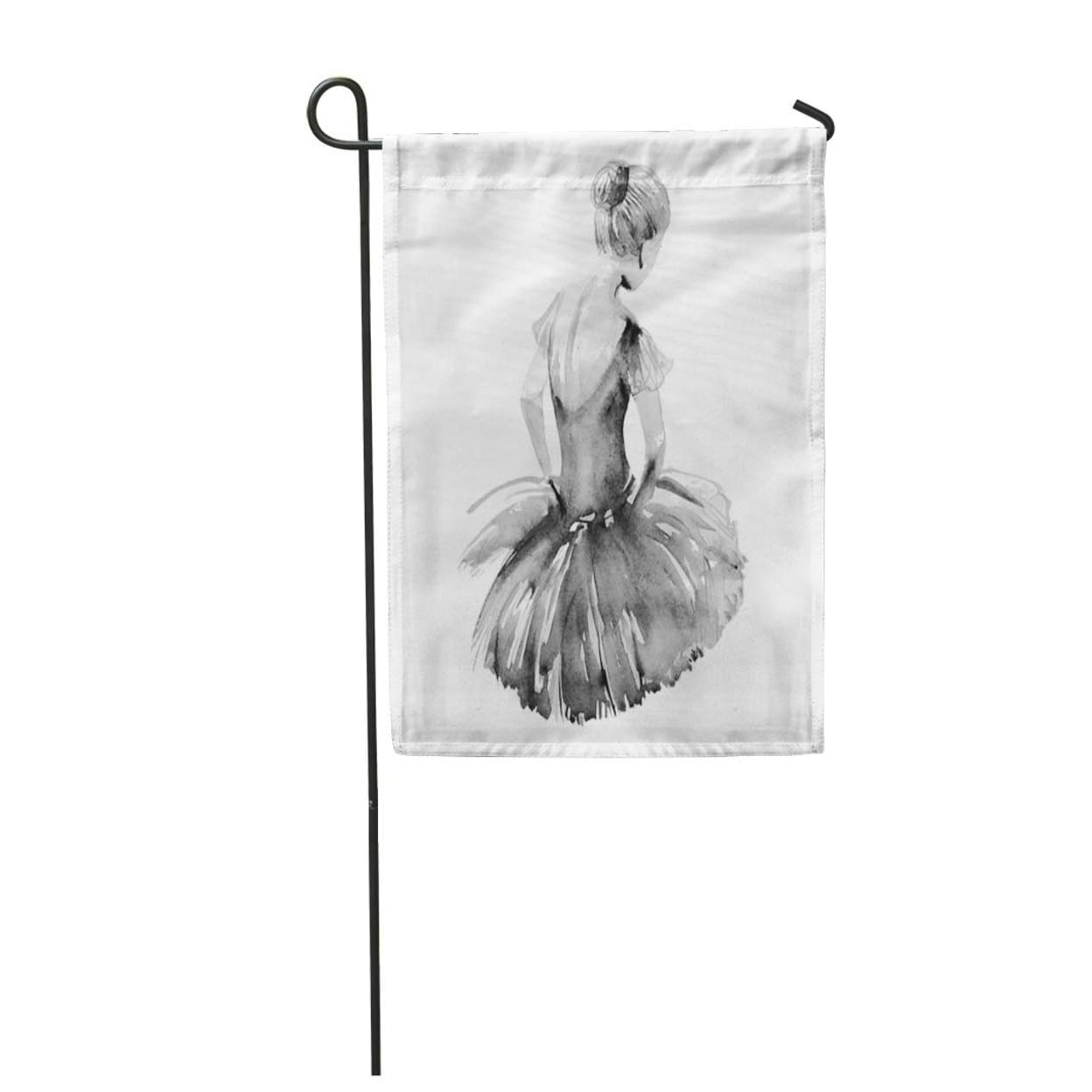 Shop Ballet Hand Drawing Watercolor Ballerina Dancer Dance Woman Shoes Silhouette Garden Flag Decorative Flag House Banner On Sale Overstock 31386662