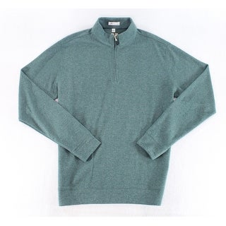 Peter Millar NEW Green Mens Size Large L Pullover 1/2 Zip Sweater