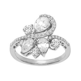 Ring with Cubic Zirconia in Sterling Silver - White
