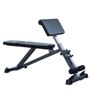Akonza All-in-One Bench Ab, Hyperextension Preacher Adjustable Curl Weight Bench Fitness