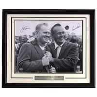 Jack Nicklaus Arnold Palmer Signed Framed 16x20 PGA Golf Photo Mounted Memories