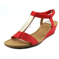 Alfani Vacay Women  Open Toe Synthetic Red Wedge Sandal