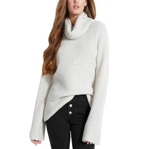 Guess Women's Mulholland Sweater Tunic White Size Large