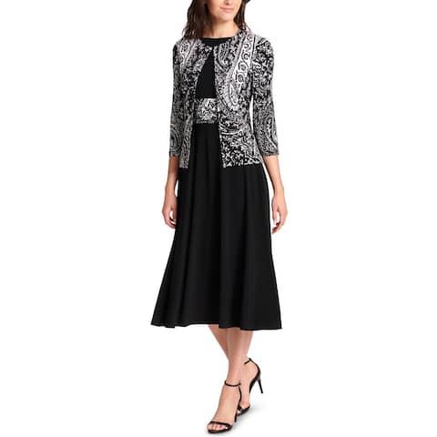 Jessica Howard Womens Dress With Jacket 2PC Paisley