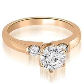 1.05 cttw. 14K Rose Gold Round Cut Diamond Engagement Ring