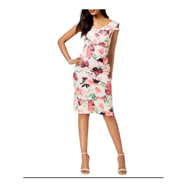 Connected Apparel Womens Midi Dress Floral Scuba