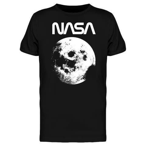 Space NASA Vintage Moon Picture Graphic Men's T-shirt