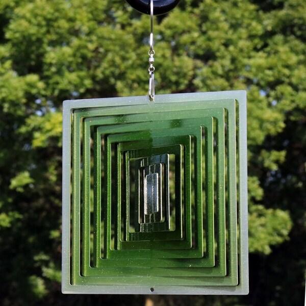 Shop Sunnydaze Emerald Green Square 3d Whirligig Outdoor