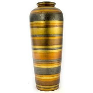"""20"""" Ceramic Water Jug Floor Vase - Ceramic, Satin In Gold. Copper, Bronze And Pewter"""