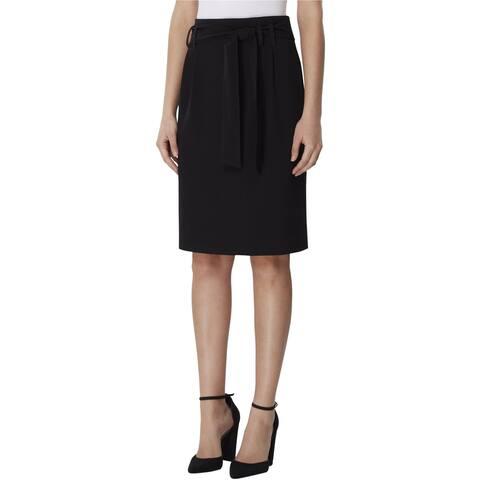 Tahari Womens Paperbag Waist Pencil Skirt