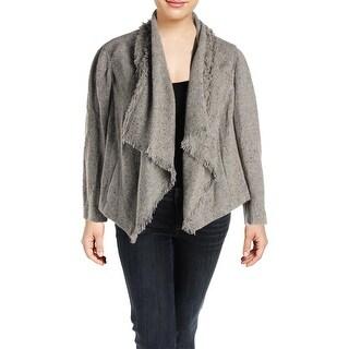 Lauren Ralph Lauren Womens Plus Aaralyn Open-Front Blazer Wool Boucle