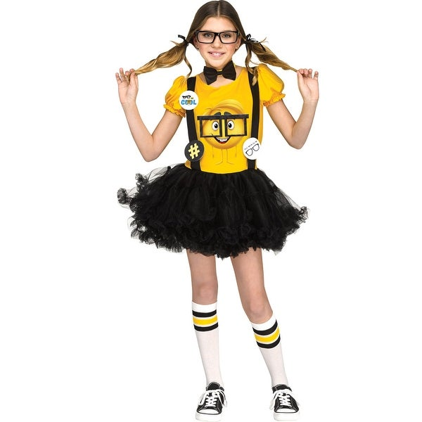 Delightful Shop Girls Nerd Emoji Movie Halloween Costume   Free Shipping Today    Overstock   18295793