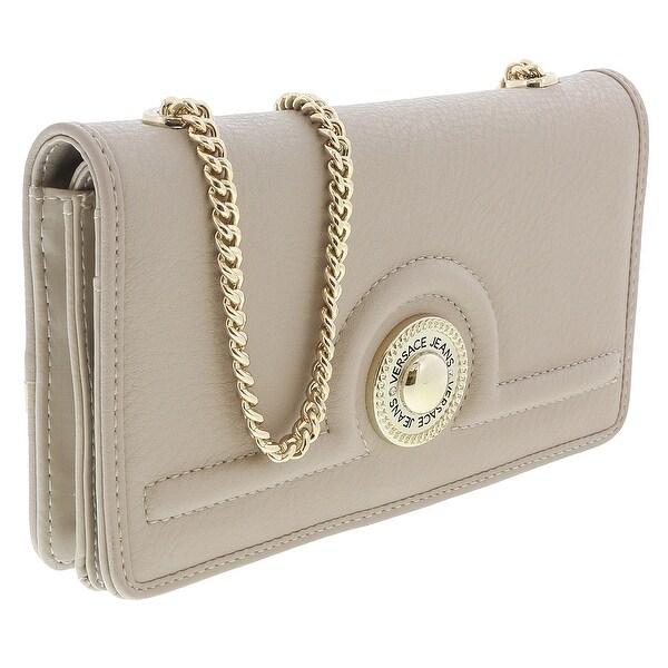Versace EE3VRBPL2 Beige Wallet on Chain - 7.5-4.5-1