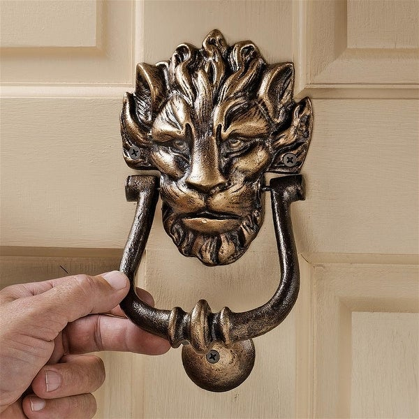 Design Toscano 10 Downing Street Lion Authentic Foundry Iron Door Knocker. Opens flyout.