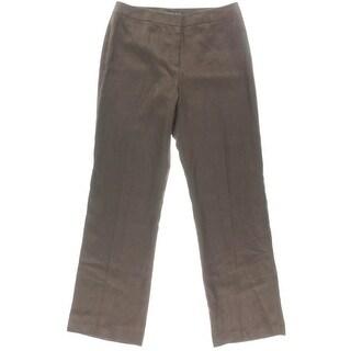Lafayette 148 Womens Flat Front Woven Casual Pants - 10
