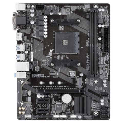 Gigabyte Motherboard GA-A320M-S2H AMD Ryzen A320 up to 32GB DDR4 D-Sub/ DVI-D/ HDMI PCI Express Micro-ATX Retail