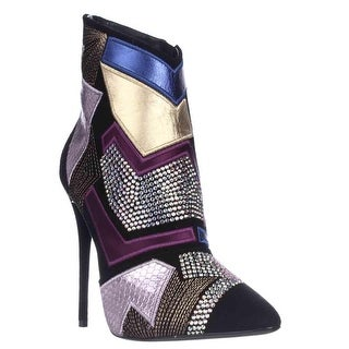 Giuseppe Zanotti Olindallo Geometric Dress Ankle Boots - Nero