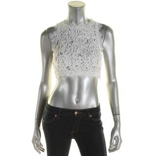 Aqua Womens Crop Top Lace Braided - xs