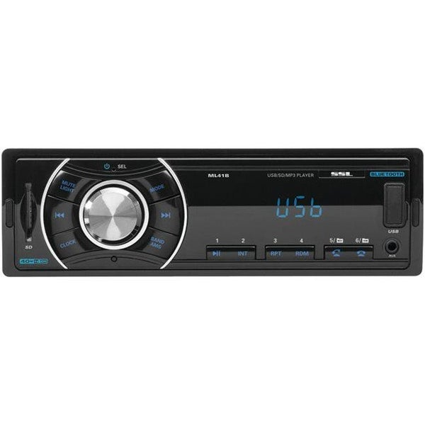 Soundstorm ML41B Single-Din In-Dash Mechless Receiver With Bluetooth