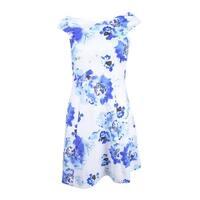 Rachel Roy Women's Floral-Print Fit & Flare Dress (0, Blue Poppy) - blue poppy - 0