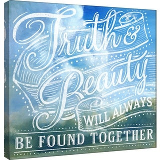 """PTM Images 9-100999  PTM Canvas Collection 12"""" x 12"""" - """"Truth & Beauty"""" Giclee Beauty Art Print on Canvas"""