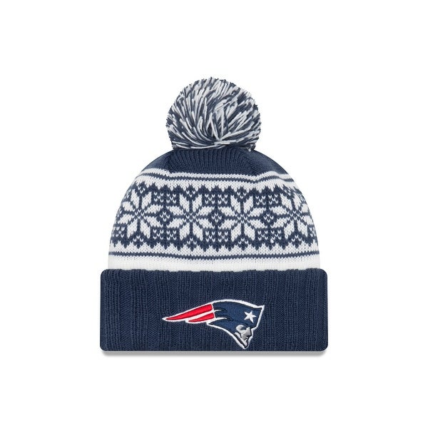 super popular 85743 25d93 Shop New England Patriots Snowy Pom Women s Beanie - Free Shipping On  Orders Over  45 - Overstock - 18682661