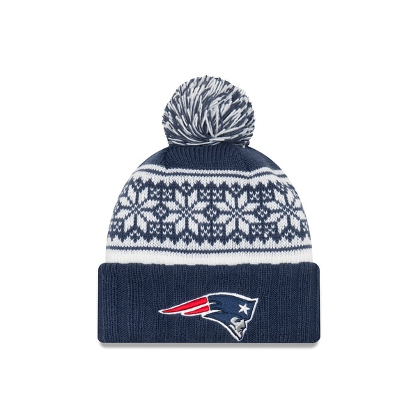 Shop New England Patriots Snowy Pom Women s Beanie - Free Shipping ... d6ef2f9d89