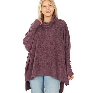 Link to JED Women's Plus Size Cowl Neck Long Sleeve Comfy Fit Sweater Tunic Similar Items in Women's Plus-Size Clothing