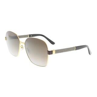 Jimmy Choo Sia/F/S 09U0 Brown Gradient Square Glitter Sunglasses - 61-17-140