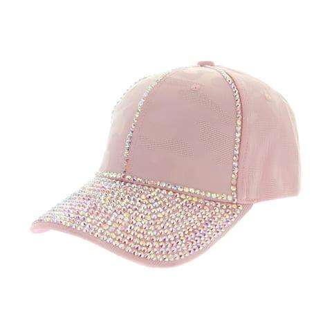 Top Headwear Glitter Stud Baseball Cap