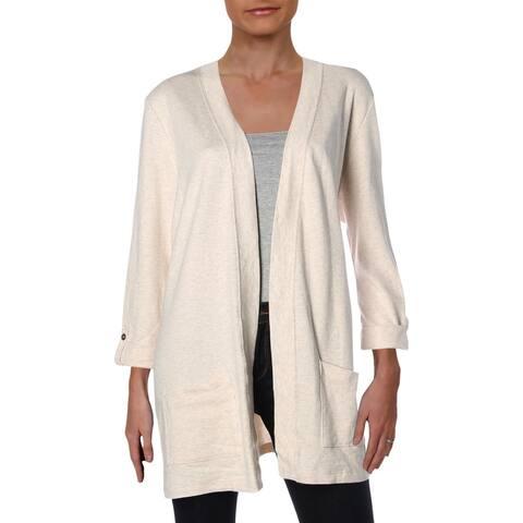 Karen Scott Womens Cardigan Sweater Tunic Cuffed Sleeve - L