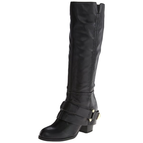 Fergie Womens Theory Leather Almond Toe Knee High Fashion Boots