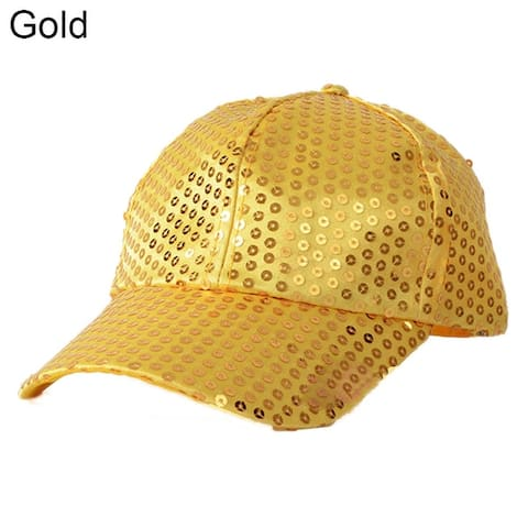 Women Men Glitter Sequins Baseball Caps Snapback Hats Party Outdoor Adjustable
