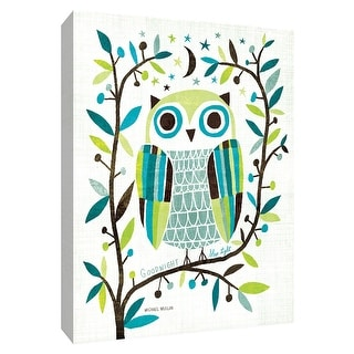 """PTM Images 9-154901  PTM Canvas Collection 10"""" x 8"""" - """"Night Owl II"""" Giclee Owls Art Print on Canvas"""