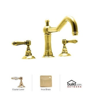 Rohl A1414LC Country Bath Roman Tub Faucet with Swarovski Crystal Lever Handles